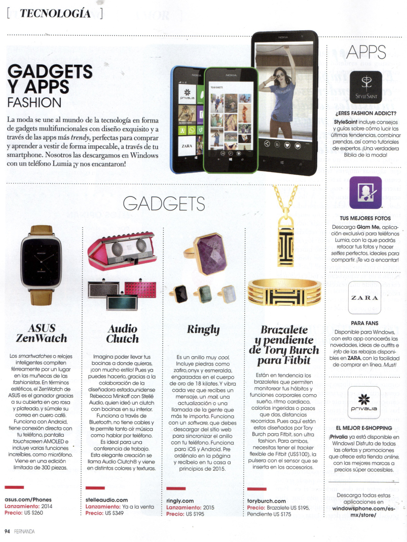 """Gadgets y apps fashion"" Fernanda"